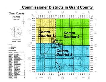 Commissioner district area coverage